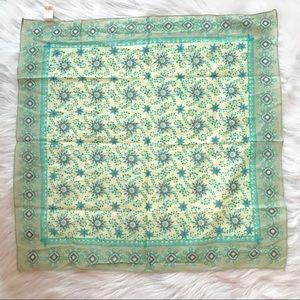 NWOT Natural Life Blue Handkerchief Scarf Boho